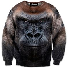 Beloved Shirts presents the Gorilla Sweatshirt Estimated 10 business day production time + shipping time, unless coupled with products that have a longer Beloved Shirts, Sweater Jacket, Hoodies, Sweatshirts, My Eyes, Boxer, Pullover Sweaters, Cool Outfits, My Style
