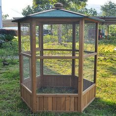 WOODEN AVIARY HEXAGONAL FLIGHT HOUSE CAGE IDEAL FOR BIRDS CHIPMUNKS CATS NEW + | eBay