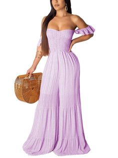 Purple Pattern, Pink Patterns, Bodycon Jumpsuit, Jumpsuit Style, Strapless Dress Formal, Formal Dresses, Red And White Stripes, Going Out, Wide Leg