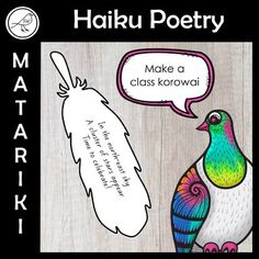 Celebrate the Māori New Year with this writing/art activity. Write a haiku poem on the feather template. Add colour and cut it out. Join the class feathers together to make a korowai (Māori cloak). Writing Art, Writing Poetry, Writing Ideas, Haiku Poems For Kids, Poetry For Kids, School Resources, Classroom Resources, Language Activities, Preschool Activities