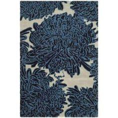 Martha Stewart Living Chrysanthemum Wrought Iron 8 Ft. x 10 Ft. Wool Area Rug - Model # MSR4542B-8 at The Home Depot