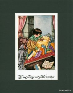 Vintage Children's Print Little Lame Prince - Art by Violet Moore Higgins  - by thinaircreations