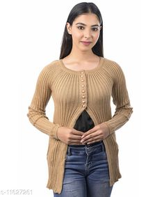 Checkout this latest Sweaters Product Name: *Ogarti woollen full sleeve round neck Women's  Shrug* Fabric: Acrylic Sleeve Length: Long Sleeves Pattern: Self-Design/Knitted Design Multipack: 1 Sizes:  M (Bust Size: 17 in, Length Size: 25 in, Waist Size: 16 in, Hip Size: 18 in, Shoulder Size: 13 in)  L (Bust Size: 18 in, Length Size: 26 in, Waist Size: 17 in, Hip Size: 19 in, Shoulder Size: 13 in)  XL (Bust Size: 19 in, Length Size: 27 in, Waist Size: 18 in, Hip Size: 20 in, Shoulder Size: 14 in)  XXL (Bust Size: 20 in, Length Size: 28 in, Waist Size: 19 in, Hip Size: 21 in, Shoulder Size: 14 in)  Country of Origin: India Easy Returns Available In Case Of Any Issue   Catalog Rating: ★4 (253)  Catalog Name: Classic Feminine Women Sweaters CatalogID_2193530 C79-SC1026 Code: 885-11627261-3351