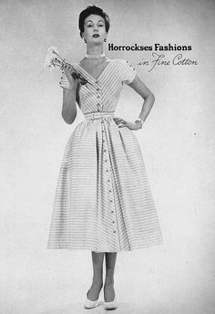 June Vogue 1952 Horrockses  Cotton Dress