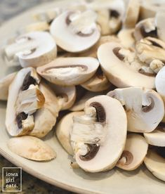 Garlic Butter Soy-Glazed Mushrooms is the easiest, most mouthwatering gluten-free side dish recipe I know! Serve with chicken, burgers, steak, or baked potatoes. | iowagirleats.com
