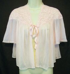 Vintage Lingerie VANITY FAIR Bed Jacket Pink by ReallyCoolClothes, $17.95