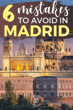 Planning to travel to Madrid Spain? Here are some of the things NOT to do on your trip. Find out about 6 common tourist mistakes to avoid in Madrid. These travel tips will save you time money and headaches Spain Travel Guide, Europe Travel Tips, Travel Destinations, Travel Advice, Travel Guides, Cool Places To Visit, Places To Travel, Travel Pics, Madrid Travel