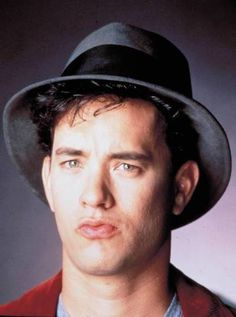Just a super cute photo of young Tom Hanks. So cute!