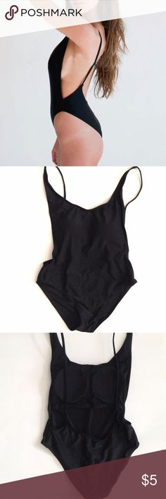 One Piece Swimsuit New - only tried on. Bought this from eBay but I have a long torso so it doesn't fit right especially because it has padding. Color: Black Size: Asian Medium (Asian sizes are smaller than US sizes)  Padded Deep scoopneck Swim One Pieces
