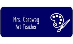 Art Teacher Rectangle 2 Line Name Tag A - Name Tag Wizard