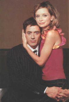 "Robert Downey Jr. & Calista Flockhart, co-stars on ""Ally McBeal"" (season 4)"