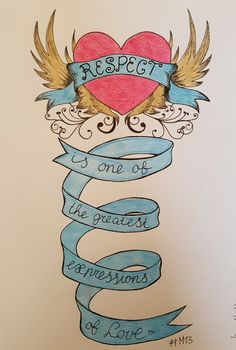 Respect is one of the greatest expressions of love *handlettering challenge mei 2017*
