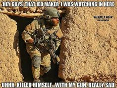 Photo showing a US Army Special Forces soldier on operations in Afghanistan. Army Humor, Military Humor, Military Gear, Military Life, Military Aircraft, Military Personnel, Special Ops, Special Forces, Gi Joe