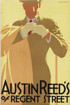 illustration de mode hommes : Tom Purvis, 1926, Austin Reed's of Regent Street. (British), beige, brun pâle