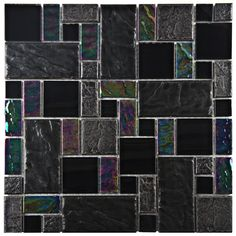 Found it at Wayfair - Eden Random Sized Glass and Natural Stone Mosaic Tile in Iris