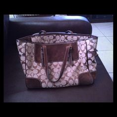"""Spotted while shopping on Poshmark: """"Brown authentic Coach tote!""""! #poshmark #fashion #shopping #style #Coach #Handbags"""