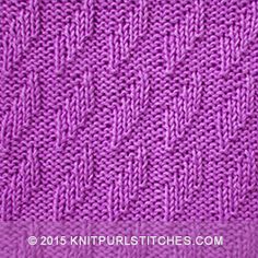 Rhombu stitch - Knit and purl combinations