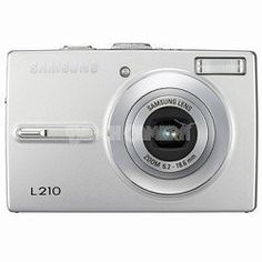 Samsung L210 10.1MP Digital Camera with 3x Optical Image Stabilized Zoom (Silver) by Samsung. $99.00. The easy-to-use, L210 10.1-Megapixel Digital Camera combines Digital Image Stabilization and Intelligent Face Recognition Technology in a compact aluminum body. Samsung's Intelligent Face Recognition Technology detects the subject's face and automatically adjusts auto focus and auto exposure to ensure better composition and image quality for portraits. The AF f...