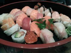 "Sushi - ""Around the World in 12 Milan Cheap Restaurants"" by @crowdedplanet"