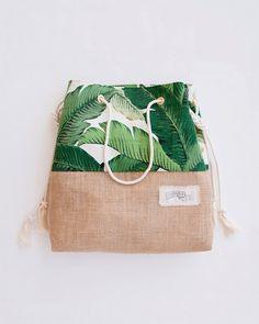 Green Banana Leaf Beach Bag Tropical Tote Palm Print