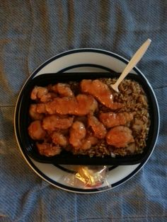 Sweet & Sour Chicken with Brown Rice & Fortune Cookie. #SweetAndSourChicken #BrownRice #FortuneCookie