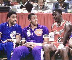 '85 Dunk Contest: Doc, Nance, M.J.