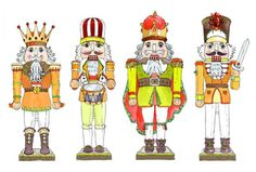 I love the nutcrackers by Emma Kelly. I showed these as examples to my students.