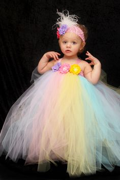 Easter Tutu Dress size 6 month3T Wedding by AllDressedUpCouture, $65.00