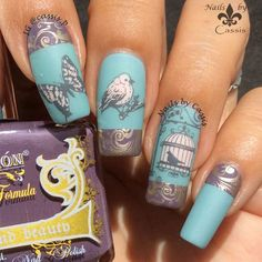 Vintage Bird & Butterfly Mani - Nails by Cassis