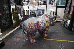 Nina, le rhinocéros du Funny Zoo à New Hotel