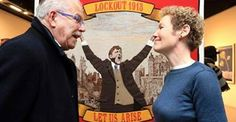 Robert Ballagh and Cathy Henderson at opening of 1913 Tapestry Collaborative Art Projects, Irish Art, Tapestry, Hanging Tapestry, Tapestries, Needlepoint, Wallpapers, Rug Hooking