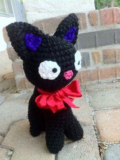 Black Cat JiJi Plush Doll Amigurumi von amiamour auf Etsy