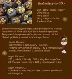 Brabantské tortičky Christmas Candy, Christmas Baking, Christmas Cookies, Eat Me Drink Me, Food And Drink, Sweet Recipes, Baking Recipes, Ale, Biscuits