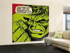 comic book room decorating ideas | Marvel Comics Retro - The Incredible Hulk Comic Panel - Comics Wall ...