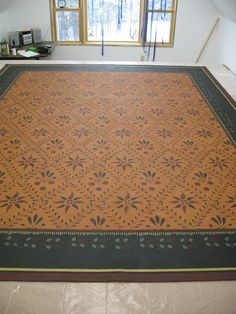 Dunberry Hill Designs :: Client Project Gallery Painted Floor Cloths, Stenciled Floor, Painted Floors, Colonial Furniture, Colorful Decor, Country Decor, Floor Rugs, Wall Murals, Interior Decorating