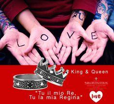"""""""Be mine."""" Tu il mio Re, Tu la mia Regina. A #SanValentino la dichiarazione d'Amore più bella che ci sia è con i gioielli MariaCristinaSterling. Scopri online: https://shop.mariacristinasterling.it/categoria-prodotto/king__queen/"""