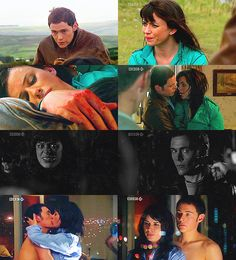 Owen and Gwen. I shipped them so hard. But can we now talk about Gwens stupid face in the black and white pic? Eve Myles, Captain Jack Harkness, David Tennant Doctor Who, Doctor Who Quotes, Rory Williams, Donna Noble, Amy Pond, Eleventh Doctor, Jenna Coleman