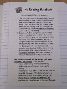 Teaching My Friends!: My Reading Notebooks   She has great information on her blog!