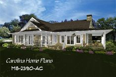 images of midsize country style wrap-around porch house plan with open floor plan, ideal for families, view images to easily visualize this home plan with house plan views. 3d House Plans, Porch House Plans, Cute Cottage, Cottage Style, Open Floor, Country Style, Floor Plans, How To Plan, Mansions