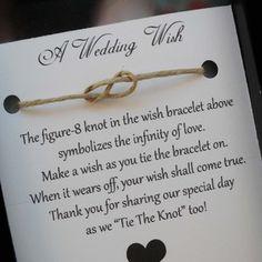 Wedding Wish Bracelet - Wedding Favor- Favors-Personalized $1.60