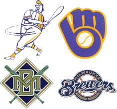 Milwaukee Brewers..... possible new tattoo as an ankle bracelet!!! with each logo as a charm!! I think throw packers in there too!