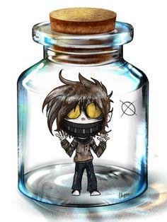 Creepypastas stuck in jars