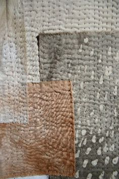 indigoblueandlimetrees:  soft rain slow cloth natural dye batik and stitch tpg from Here with T