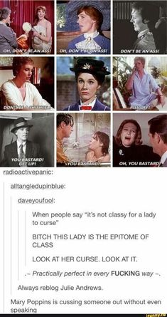 Don't even try saying Dame Julie Andrews isn't the classiest lady you could ever hope to meet, she is honestly the most incredible woman and my idol since I was about 8 years old My Tumblr, Tumblr Posts, Tumblr Funny, Funny Quotes, Funny Memes, Jokes, My Champion, The Funny, In This World