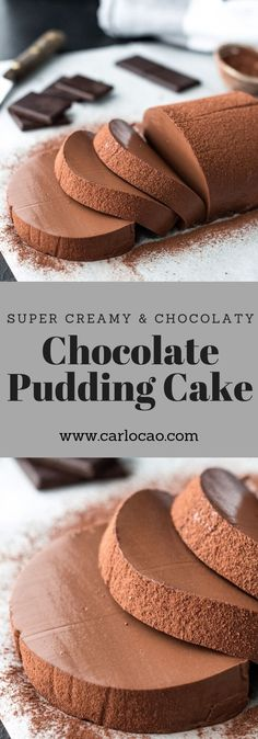 Schoko Pudding Cake Veganer Pudding Vegaliciously by Carlo Cao Easy Cake Recipes, Easy Desserts, Sweet Recipes, Baking Recipes, Dessert Recipes, Dessert Food, Cheesecake Recipes, Dessert Ideas, Pie Recipes