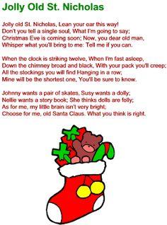 Lyrics to lots of Christmas songs; Jolly Old St. Nicholas Lyrics Lyrics to lots of Christmas songs; Jolly Old St. Christmas Songs For Toddlers, Christmas Carols Songs, Christmas Songs Lyrics, Christmas Sheet Music, Christmas Poems, Merry Christmas Happy Holidays, Preschool Christmas, Christmas Program, Xmas