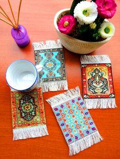 Kilim Rug Carpet Coasters       http://www.ebay.com/itm/321880580987