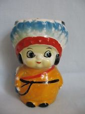 A LITTLE INDIAN GIRL EGGCUP EGG CUP