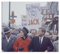 1960. New Hampshire. Campaigning. Jack and Jackie
