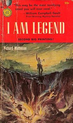 "A new terror born in death, a new superstition entering the unassailable fortress of forever. I am legend."" ― Richard Matheson, I am Legend and Other Stories I Am Legend, Horror Fiction, Pulp Fiction, Horror Books, Fiction Novels, Art Et Illustration, Illustrations, Scary Novels, Cover Art"